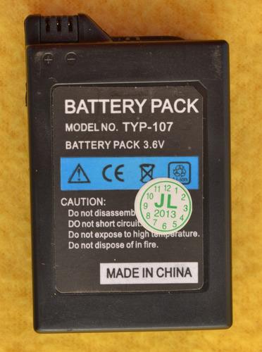 bateria generica 3.6v 1800mah para psp fat