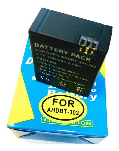bateria gopro hero3 - 3.7v - 1050mah - 3.9wh - li-ion