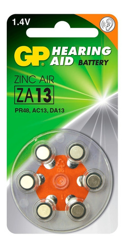 bateria gp za12 para audifono pr48 ac13 da13