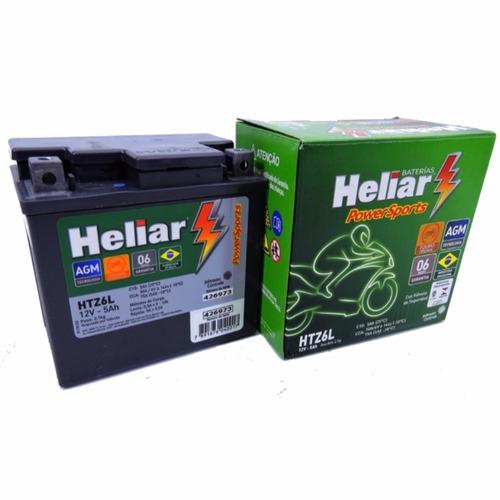 bateria heliar htz6l 5ah xre 300 2009/2019 original honda