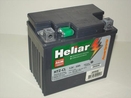 bateria heliar htz6l xre300 2010/2012 crf230 titan150