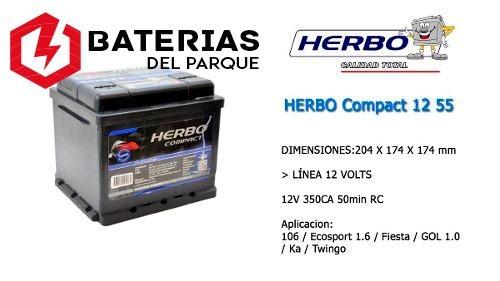 batería herbo 12x50