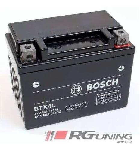 bateria honda biz cg 125 titan bosch 12v ytx4l-bs