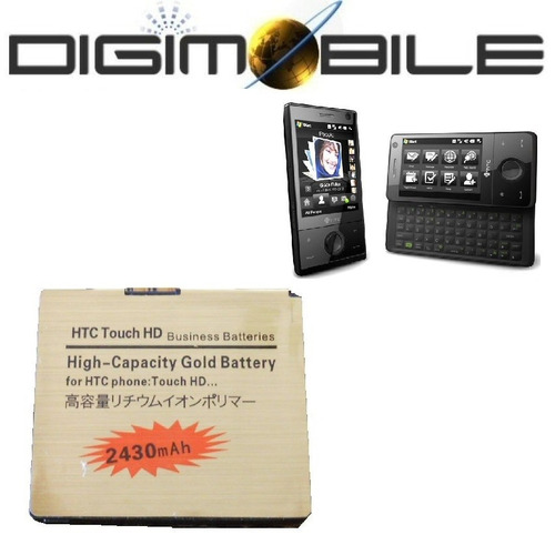 bateria htc ba s340 blac160 htc t8282 htc touch hd 2430mah