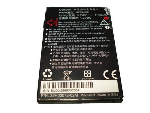 bateria htc hera160 para htc p4350 dopod c800 o2 xda 1130mah