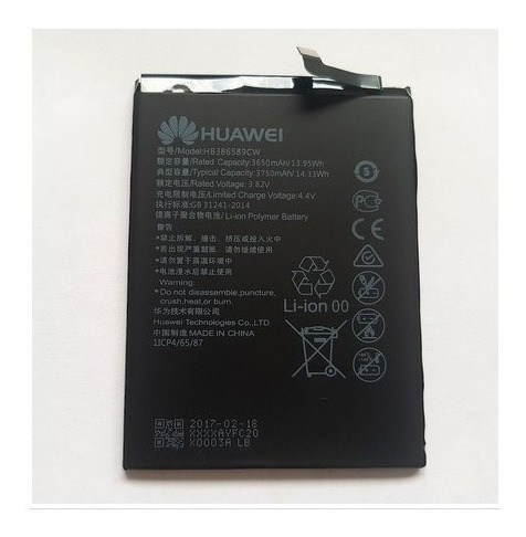 bateria huawei p10 plus / honor 8x hb386589cw