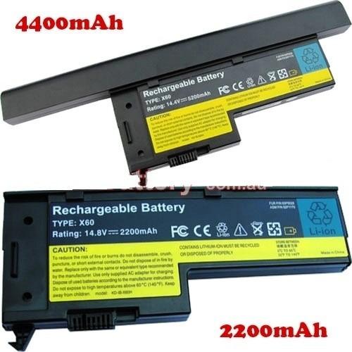 batería ibm thinkpad lenovo x60 x61 laptop 8 celdas   hm4