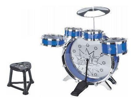 bateria infantil musical azul bt-382 fenix