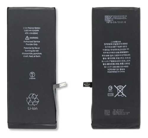 bateria iphone 6s plus 2750 + adesivo térmico + ferramentas