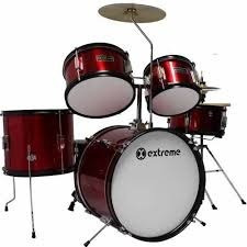 batería junior 5 piezas infantil con banco century extreme /