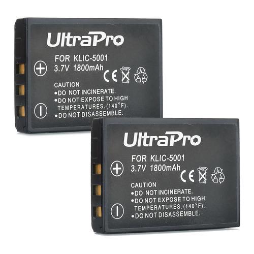 batería klic-5001 paquete de 2 paquetes con cargador de viaj