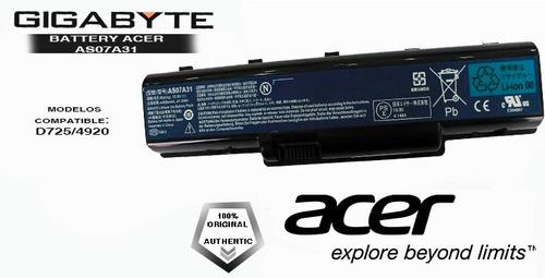 bateria laptop acer  as5738-6969 original