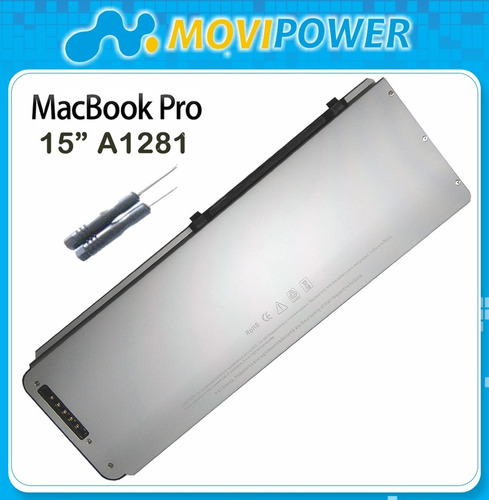 bateria laptop apple macbook pro 15 1281 -1286 garantia 100%