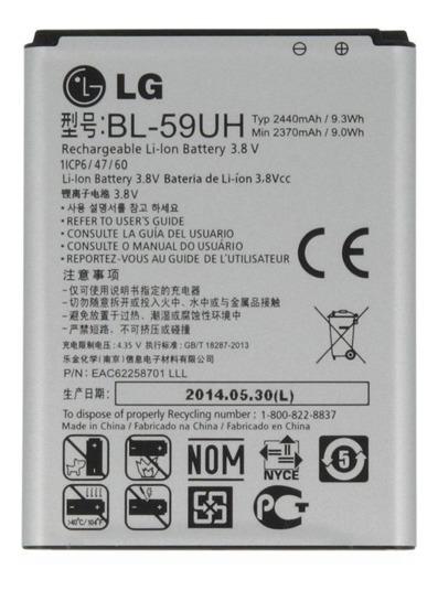 226652ad91f Bateria Lg Bl-59uh Original G2 Mini D610 D618 D620 D625 - $ 498,00 ...
