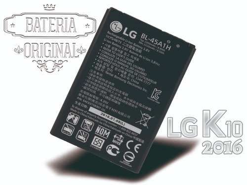 bateria lg k10 k430 k430ar 2016 bl-45a1h k420t original