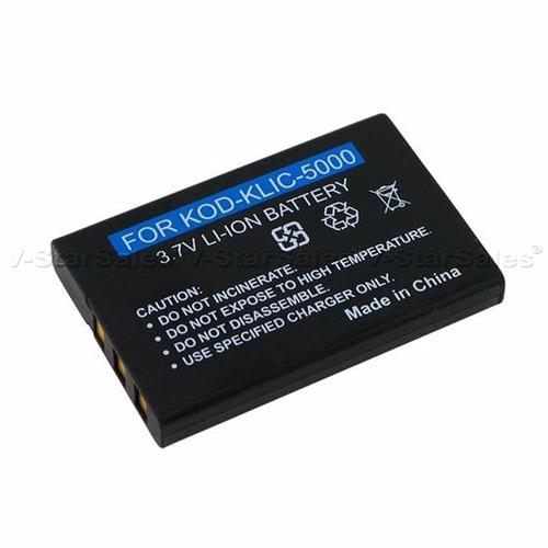 bateria li-ion recargable klic-5000 p/camara kodak dx7440