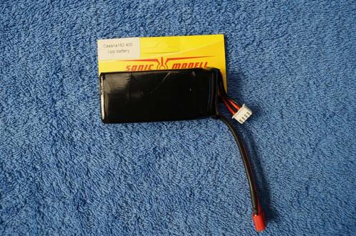 batería lipo 11,1 volt 1300 mah 15c p/avión cessna 400 class