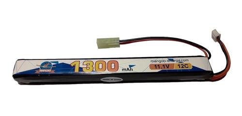 batería lipo 11.1v 1300mah 12c airsoft 1 stick - 1ra calidad