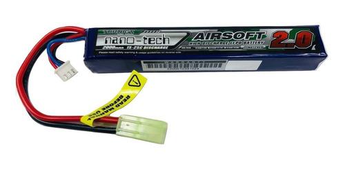 batería lipo airosft turnigy nano-tech 7,4v 2000mah 15~25c brick