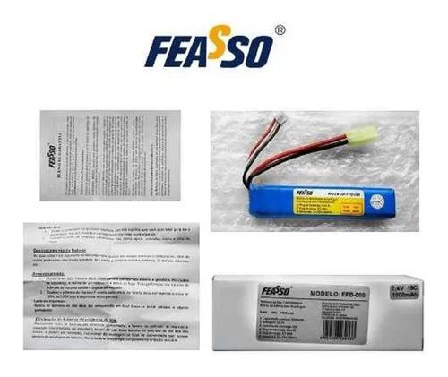 bateria lipo airsoft 7.4v 900mah 15c ffb-008