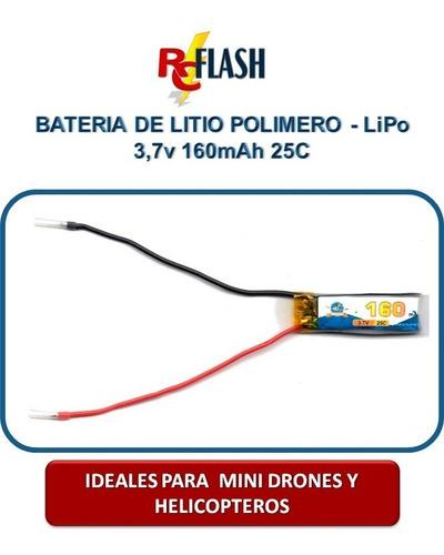 bateria lipo mini helicopteros drones 3.7v 150mah a 180mah