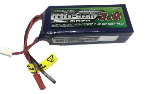 batería lipo radio control turnigy nano-tech 7,4v 3000mah 20c brick