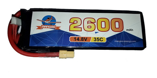 batería litio lipo 4s 14.8v 2600mah 35c drones aviones rc