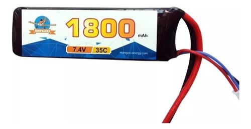 batería litio polímero lipo 7.4v 1800mah 35c autos rc drones