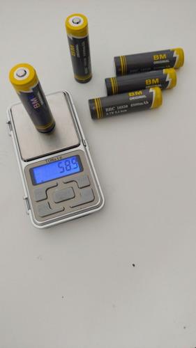 bateria lítio recarregável lanterna tática original bmax