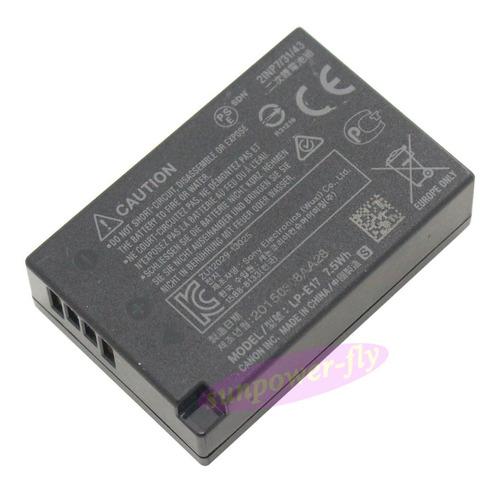 batería lp-e17 100% originapara canon eos (t6i,t7i,eos 77d )