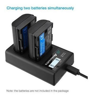 batería lp-e6 + cargador dual de pantalla lcd para canon eos
