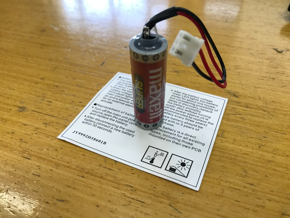 Bateria Maxell Er6c (aa) 3,6v Lithium Cnc Plc Mitsubishi