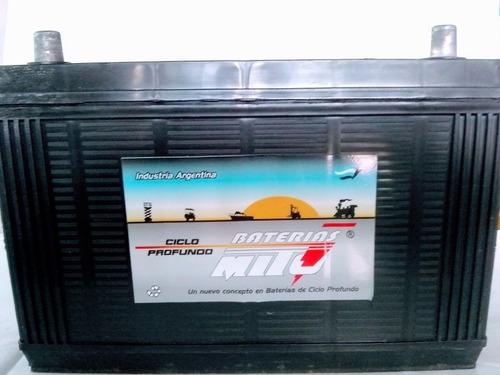 batería mito ciclo profundo 12 x110 náutica,paneles solares