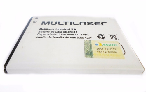 bateria mlb4611 1.200mah nova original multilaser city p3247