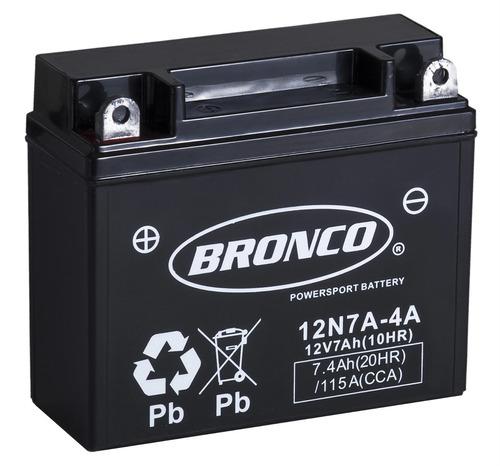 bateria moto 12n7a-4a bronco gel motoscba