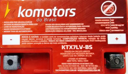 bateria moto 6ah falcon r3 lander fazer 250 ktx7lv-bs 0181