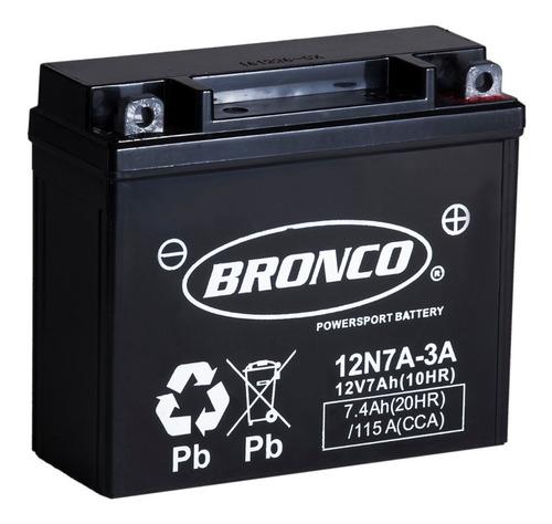 bateria moto bronco 12n7a-3a gel motoscba