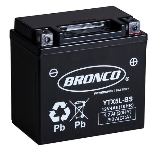 bateria moto bronco ytx5l-bs gel motoscba