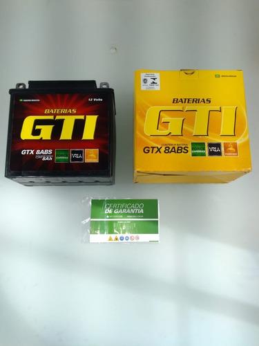 bateria moto gel 8ah intruder yes katana 125 gtx-8abs