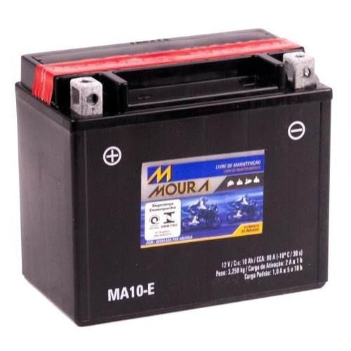 bateria moto ma10-e moura 10ah kawasaki kle650 versys zr-7 s