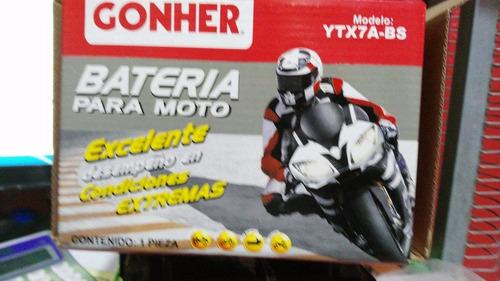 bateria moto motoneta honda vento yamaha italika ytx7a-bs