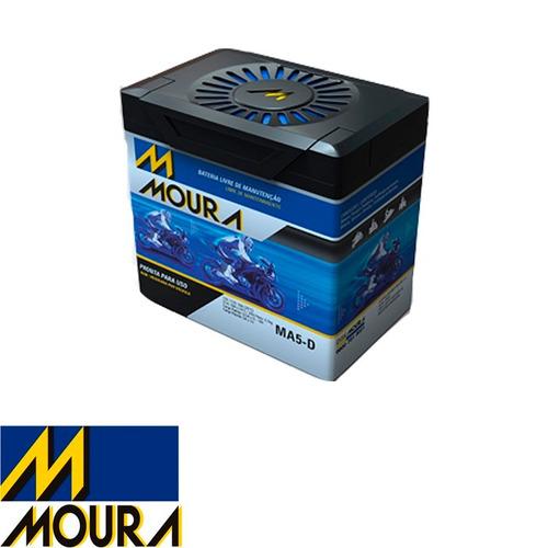 bateria moto moura ma5-d titan150 mix09 / bros150 / xre 300