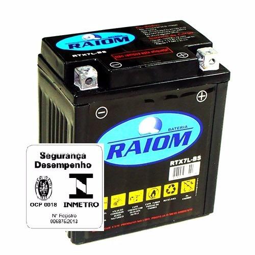 bateria moto raiom rtx7l-bs titan tornado xre 11890