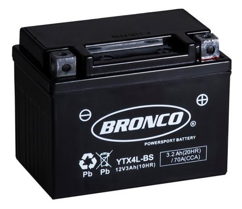 bateria moto  ytx4l-bs bronco gel motoscba