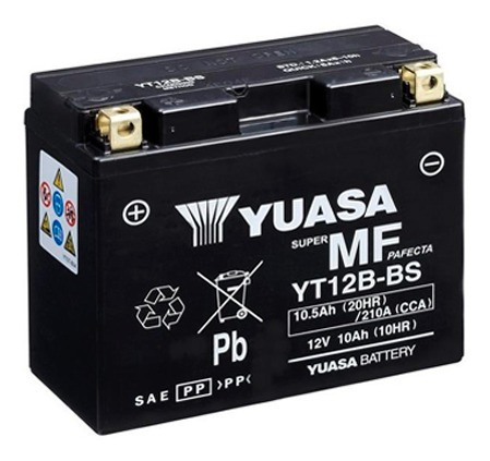 batería moto yuasa yt12b-bs ducati 1198 sp 09/11