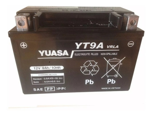 bateria moto yuasa ytx9-bs (yt9a) cbr 600 f2 - f3 rpm