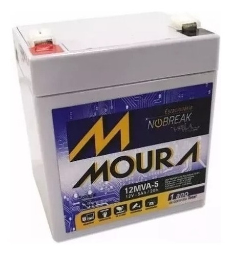 bateria moura 12mva-5 csb hr 1221w 5a f2 nobreak sms apc