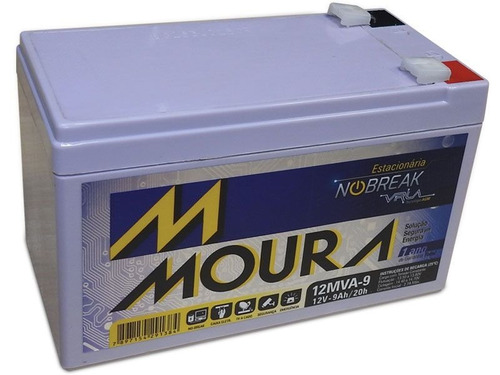 bateria moura 12mva-9 estacionária 12v 9ah 9a nobreak alarme