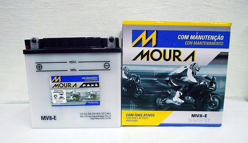 bateria moura katana 125 1996 1997 1998 1999 mv8e ref yb7a
