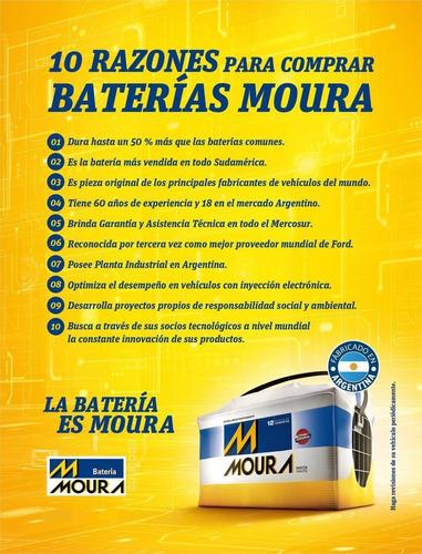 batería moura m20gd 12x65 a/h fiesta kd 1,6